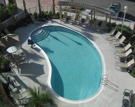 Homewood Suites by Hilton Orlando Airport: Swimming Pool View from Studio Suite 409 Window - 2013