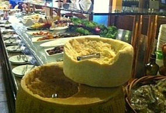 Brazilian Grill: Whole huge Parmesan and Pecorino
