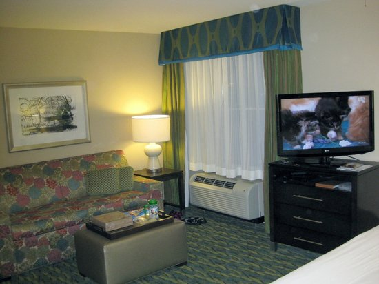 Homewood Suites by Hilton Orlando Airport : Studio Suite 409 Lounge Area - 2013