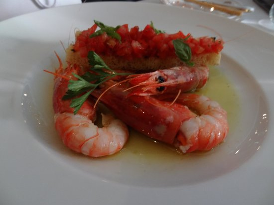 Grand Hotel Quisisana: Wonderful prawns