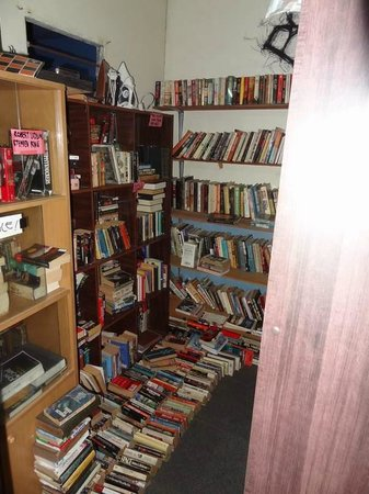 KB Backpackers Lodge: One-half of the lending library
