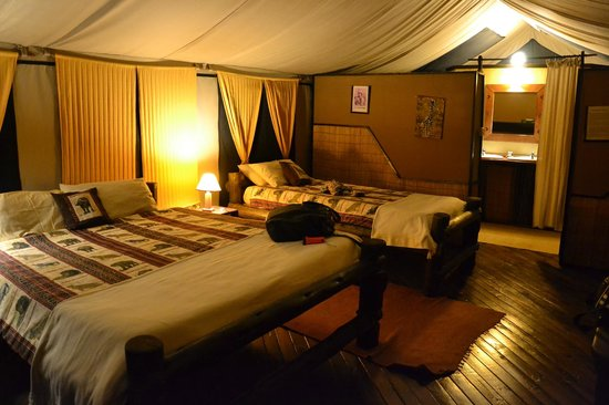 Stanley's Kopje Camp: Interior of our tent