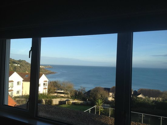 Boskerris Hotel: View from Room 4 towards St Ives