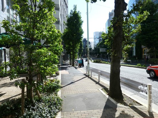 Tokyu Stay Aoyama Premier : View from Hotel front entrance.