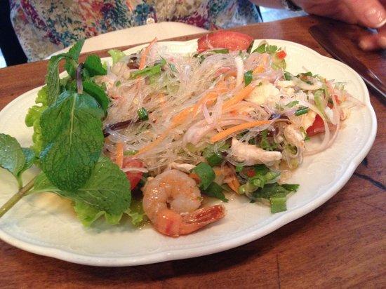 Madame Shawn Bistrot Thai: Salade de vermicelles aux crevettes