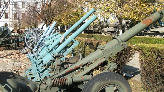 National Military Museum Bucharest : Guns on display