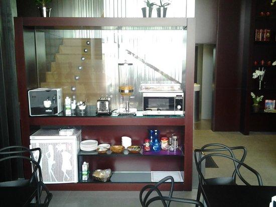 Hostal Averroes: Vista de la zona en la que se desayuna.