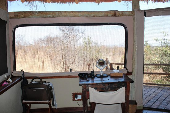 Tarangire Treetops: Desk in the rom