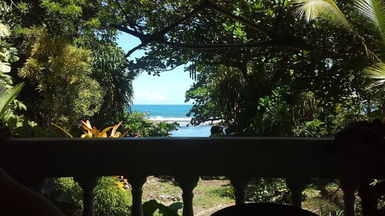 La Piscina Natural: View from the dining area out across the natural tidepool