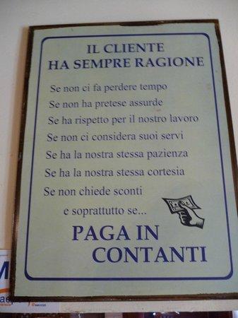 Vini da Gigio : Kunden har altid ret