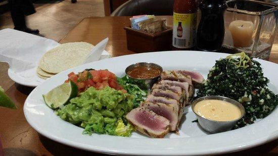 Ahi Tuna Taco Plate (with Kale Slaw and soft home-made style ...