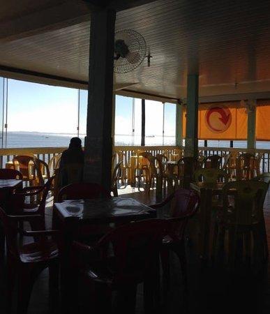 Boca de Galinha: Vista interna restaurante