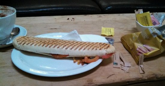 White Hart: The panini as it arrived.