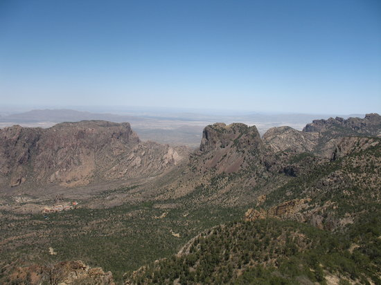Emory Peak: Chisos Basin Below