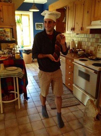 Gite TerreCiel: David au petit-dejeuner