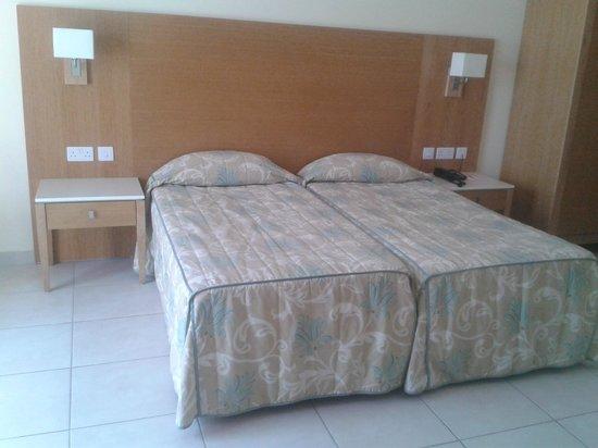 Ramla Bay Resort : Notre chambre, des plus simples côté campagne