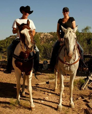 Palo Duro Riding Stables : My wife and I in HEAVEN!!!