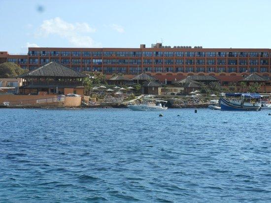 Ramla Bay Resort : Ramla bay vu d'un pédalo