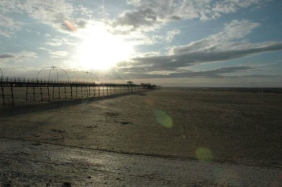 Southport Pier: View from the beach of the pier.