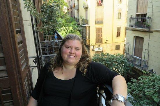 Casa Marcelo Barcelona: On the balcony loving life