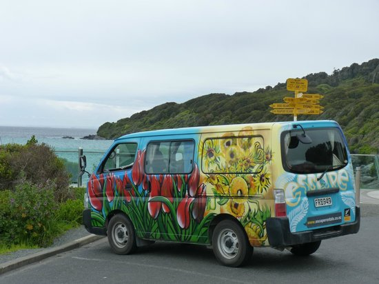 I parked my campervan at Stirling Point to walk up Bluff Hill.