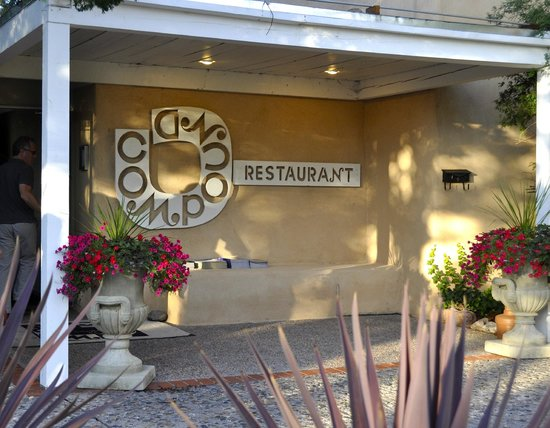 The Compound Restaurant : Charming entrance off pricey Canyon Road.