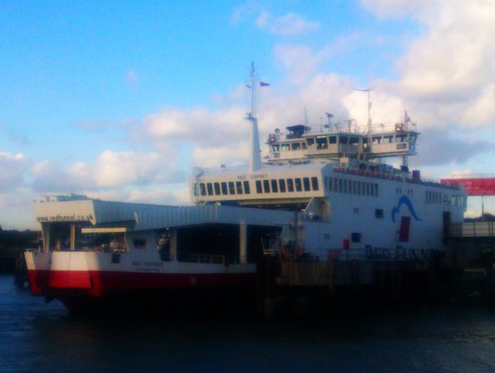 Red Funnel Ferries: Red Osprey in Southampton.