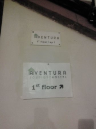 Aventura Boutique Hostel: Interno - entrance at first floor