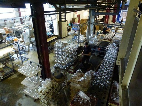 Dartington Crystal: Inspection and Packing Area