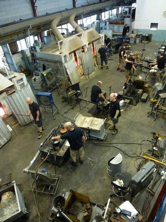 Dartington Crystal: Glassblowing from Viewing Gallery