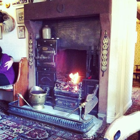 Fat Lamb Country Inn and Restaurant: Roaring fire