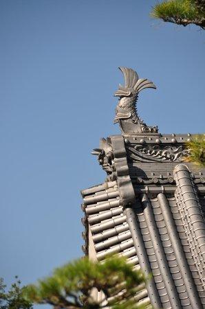 Daiganji Temple: detalle del tejado del templo