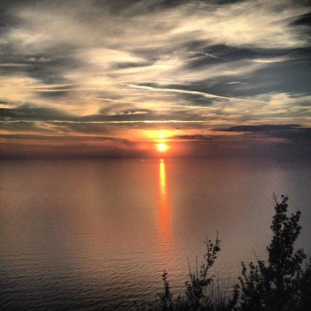 Casale Santa Rosalia: panorama al tramonto