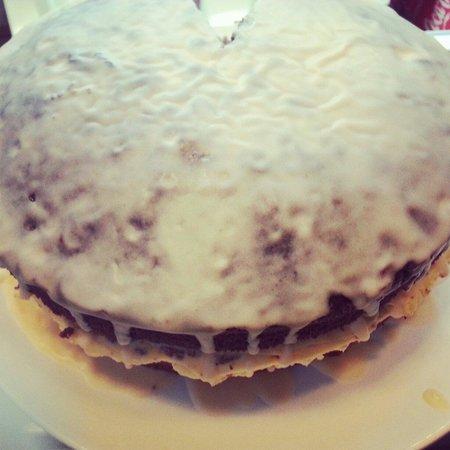 River Street Cafe: Homemade Chocolate cake £2.25 a slice yummy!!