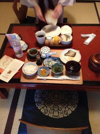 Inn Kawashima: le petit déjeuner