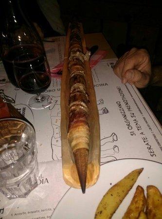 Keller Steak House : Spiedino di manzo e pancetta