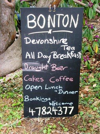 Bon Ton: The Chalk Board