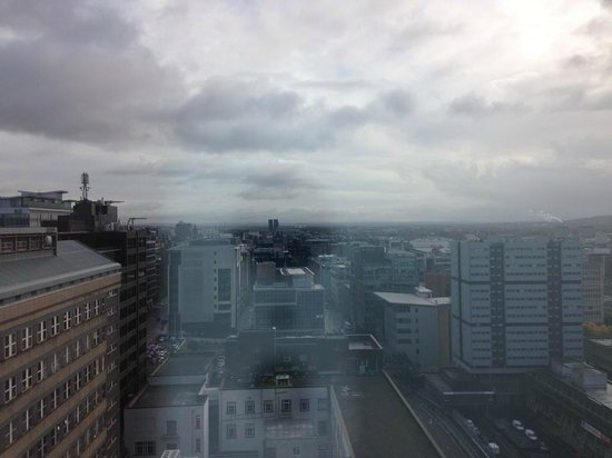 Hilton Glasgow: view from room 1920