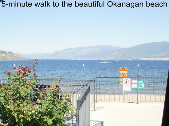 Ogopogo Motel: 10-minute walk to beach