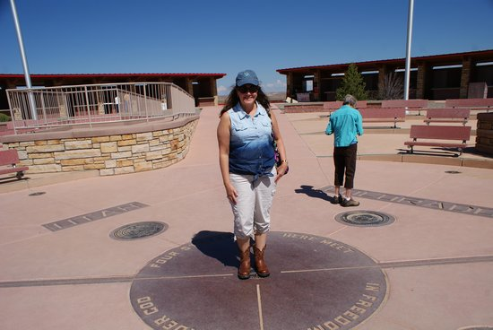 Four Corners Monument: Standing on 4 states!
