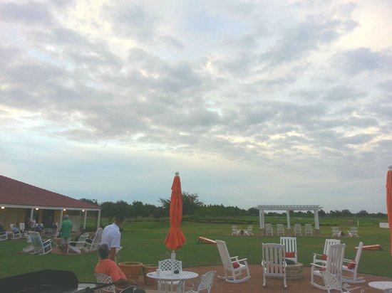 Orange County National Golf Center and Lodge: Courtyard Firepit, grills, cornhole