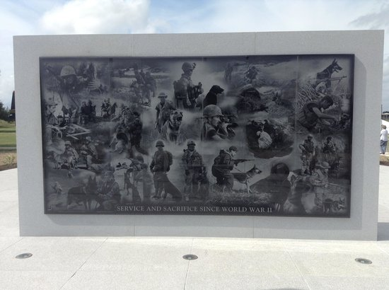 U.S. Military Working Dog Teams National Monument: Back Side of the Monument