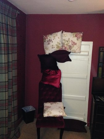 Hambro Arms: My ingenious light excluder helped darken my room for a restful night's sleep.