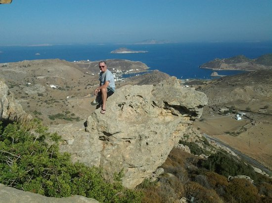 Walking in Patmos: View from the church.