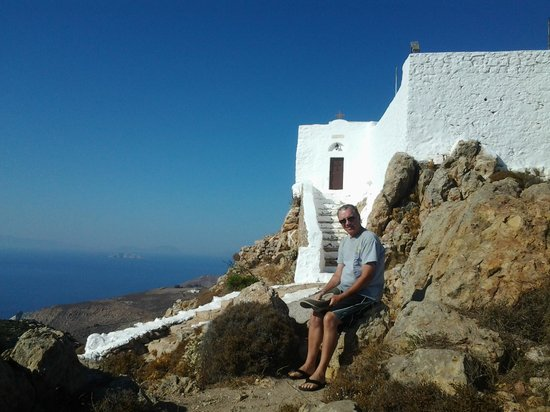 Walking in Patmos: Another view of the church.