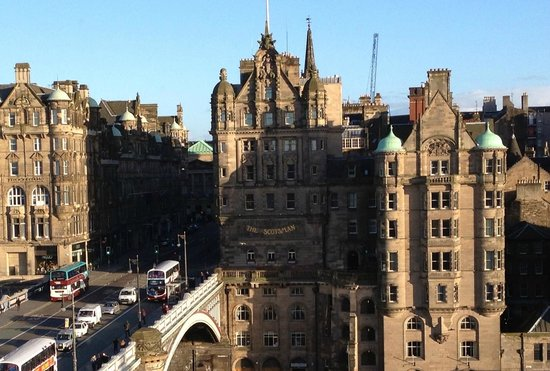 The Balmoral Hotel: view from window