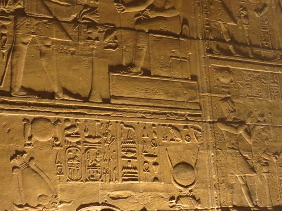 Philae Island : Isis Temple carvings