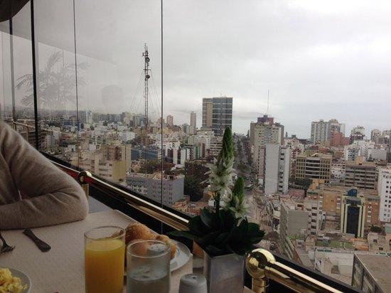 Estelar Miraflores Hotel: vista parcial desde el restaurante