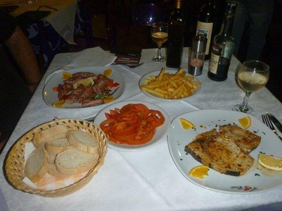 Ristorante Cecio: Grilled tuna and grilled swordfish