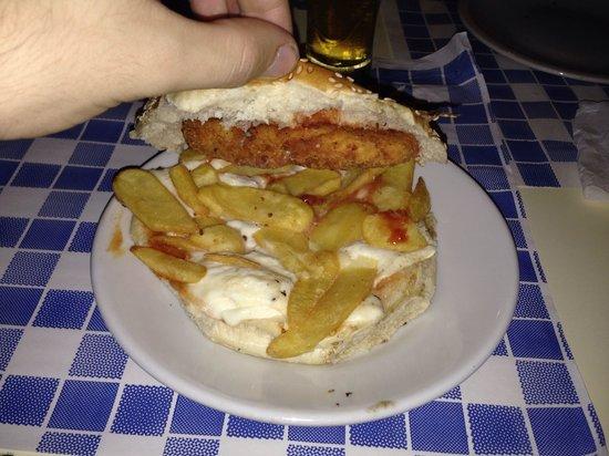 Solleòne : Ruspante : patatine pollo croccante mozzarella